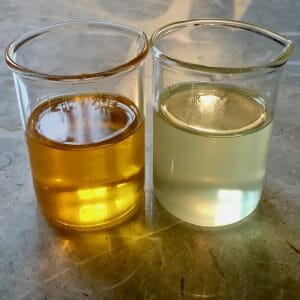 Two types of meadowfoam seed carrier oil