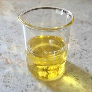 Argan oil in beaker