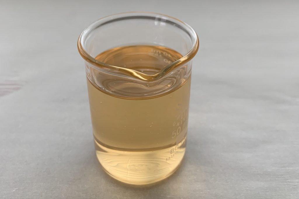marula oil in beaker