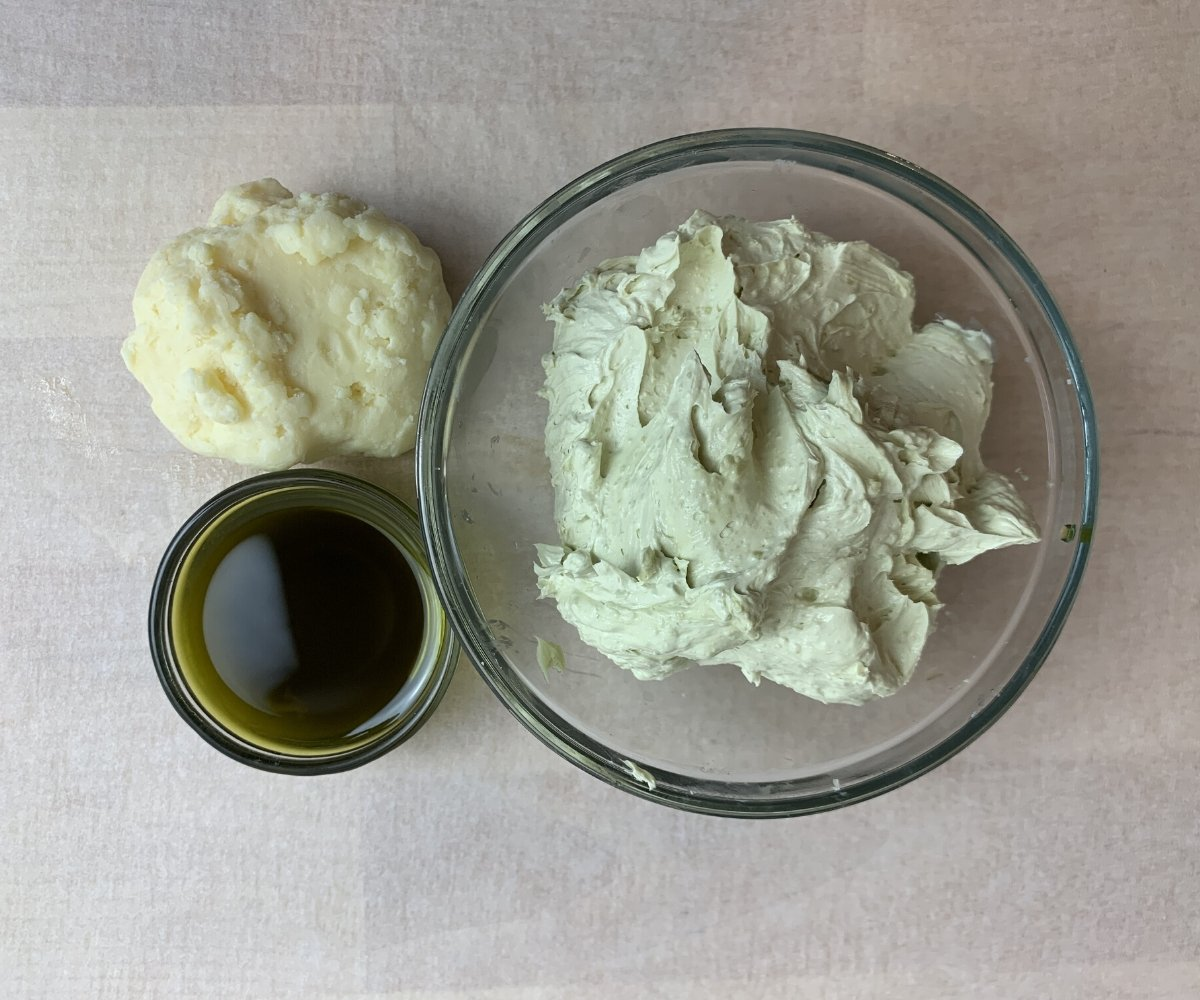 whipped body butter display